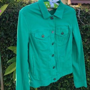 VINCE CAMUTO TURQUOISE JEAN JACKET